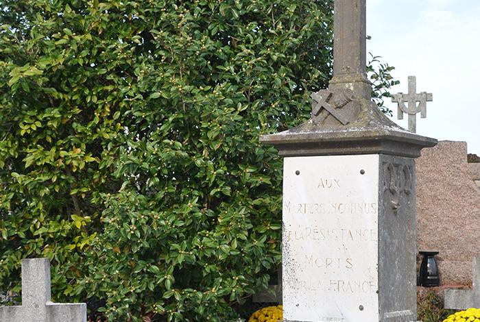 Martyrs inconnus de la résistance au cimetière