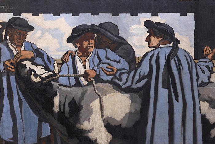 Les Maquignons, 1919 - Henry DEZIRE (1878-1965) - Huile sur toile ; 114,5 x 196 cm - Don du Docteur Raynaud et de ses enfants, 1997