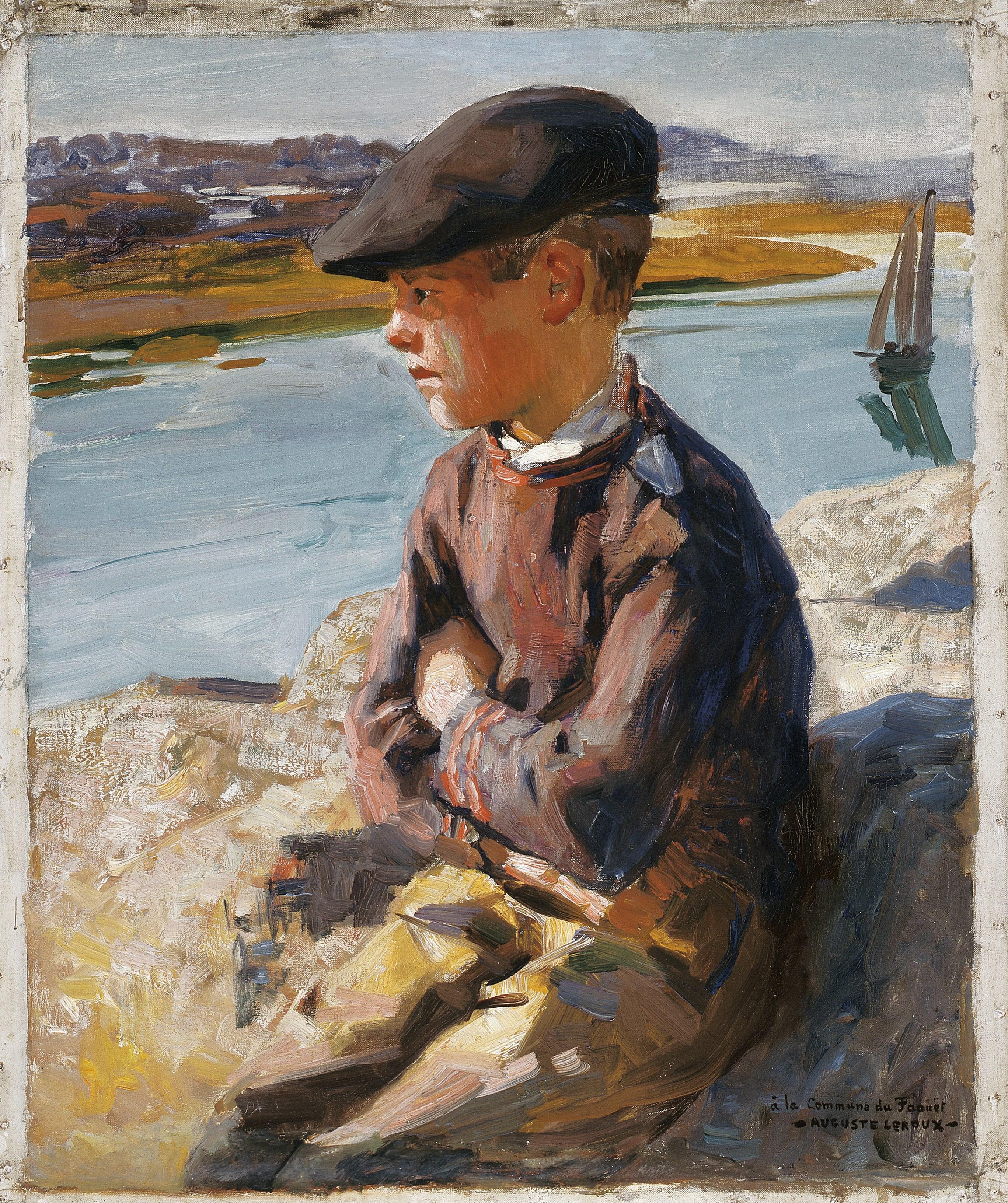 Auguste LEROUX (1871-1954) Jeune marin, vers 1914 Huile sur toile ; 64 x 53,5 cm Don de l'artiste, 1914 Collection musée du Faouët, n° d'inv. 02 © Musée du Faouët, 2017 - Photo S. Cuisset