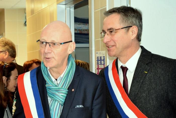 André Le Corre, Maire accompagné de Jean-Michel Jacques, député de la circonscription.  (© MS Janno-Clément)