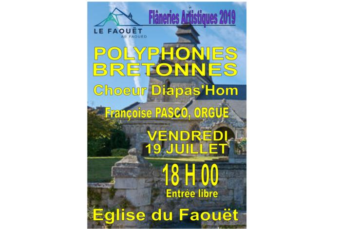 Flâneries Artistiques du Faouët – les Polyphonies Bretonnes – Chœur Diapas'hom et Orgue Françoise Pasco