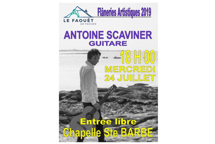 Flâneries Artistiques du Faouët – Guitare avec Antoine Scaviner