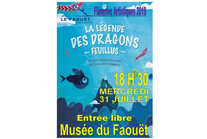 Flâneries Artistiques du Faouët – Conte musical écologique «La légende des dragons feuillus»