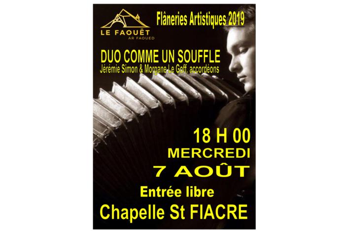 Flâneries Artistiques du Faouët – Accordéon Jérémie Simon et Morgane Le Goff