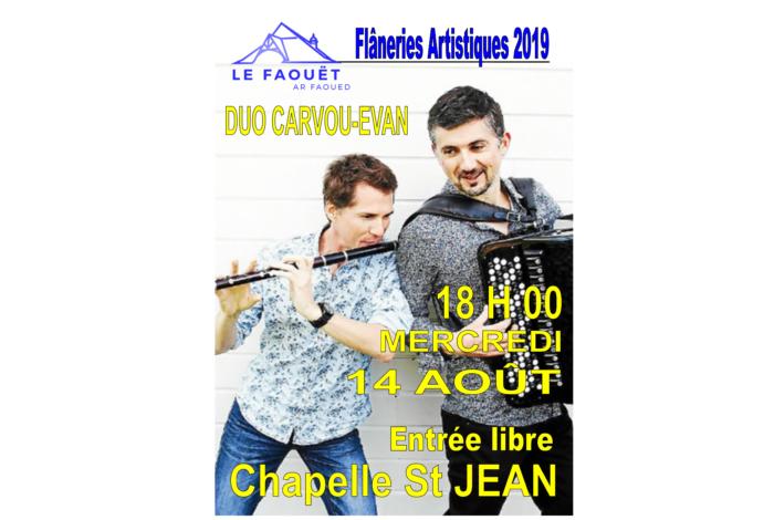 Flâneries Artistiques du Faouët – Flûte et accordéon – Duo Carvou-Evan