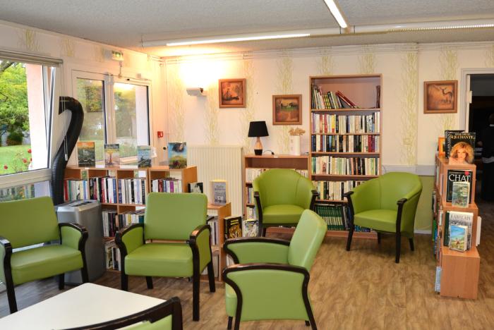 L'espace de lecture, bibliothèque